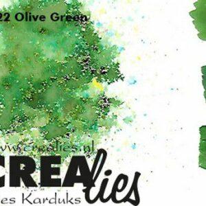 Crealies Pigment Colorzz Poeder Olijfgroen CLPC22
