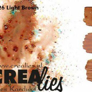 Crealies Pigment Colorzz Poeder Lichtbruin CLPC26