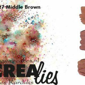 Crealies Pigment Colorzz Poeder Middenbruin CLPC27