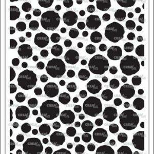 Crealies Stencilzz/Maskzz Cirkels ruwe randen CLSTM302