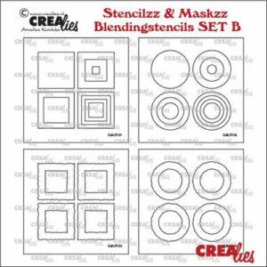 Crealies Stencilzz/Maskzz Vierkant glad en ruwe randen CLSTMBLSETB