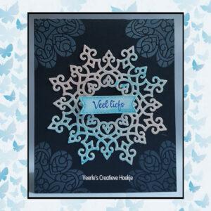 Nellie's Choice Stencil Christmas Time - Mandala COLST005