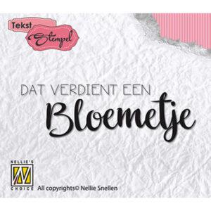 Nellie's Choice Clear Stamps Dat verdient een bloemetje DTCS011
