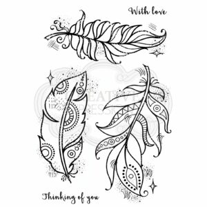 Woodware Clear Stempel Boho Feathers FRS791