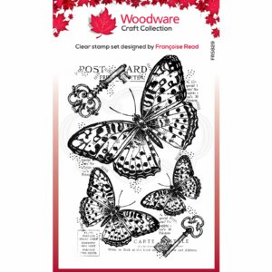 Woodware Clear Stamp Three Butterflies FRS829