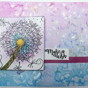 IndigoBlu Colour Me Dandelion Rubber Stamp IND0745