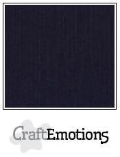 CraftEmotions linnenkarton 10 vel zwart LHC-58 /A4 /250gr