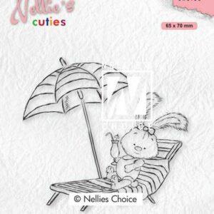 Nellies Choice Clearstempel - Cuties Lena op vakantie NCCS002