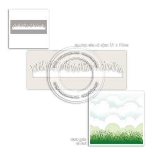 Polkadoodles Grass Lawn Stencil (PD8009)