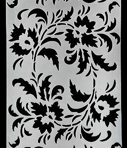 Picket Fence Studios Slim Line Floral Stencil (SC-197)