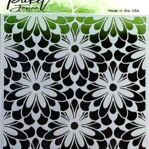 Picket Fence Studios Daisy Burst 6x6 Inch Stencils (SC-208)