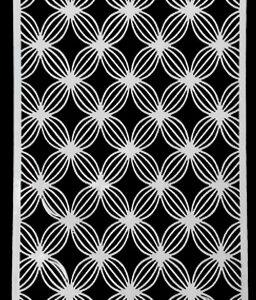 Picket Fence Studios Slim Line Basket Petals Stencil (SC-215)