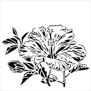 The Crafter's Workshop Hibiscus Stencil (TCW915s)