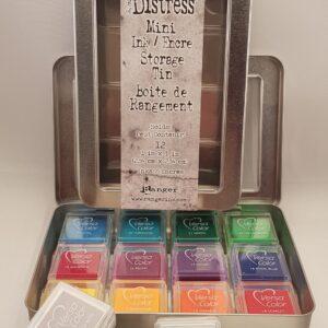 Ranger Mini Distress Ink Storage Tin TDA42013 Tim Holtz