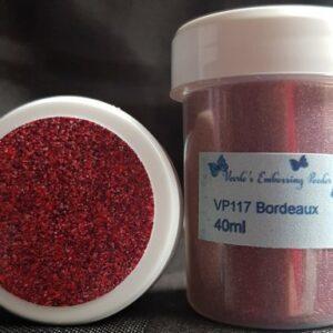 Veerle's embossing poeder Bordeaux VP117 - 40 ml