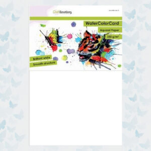 CraftEmotions WaterColor Card - Briljant Wit - 350gr