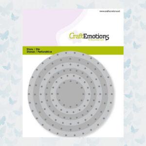 CraftEmotions Die - Cirkels vintage - klinknagels