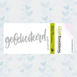CraftEmotions Die Handletter - Gefeliciteerd 115633/0012