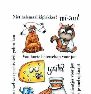 CraftEmotions Clearstamps - Beterschap 1 - Carla Creaties 130501/1509