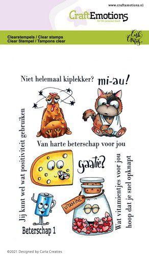 CraftEmotions Clearstamps - Beterschap 1 - Carla Creaties 130501/1509