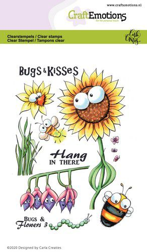CraftEmotions clearstamps - Bugs & flowers 3 Carla Creaties 130501/1697