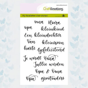 CraftEmotions Clear Stempels - Handletter - Opa & Oma 130501/1832