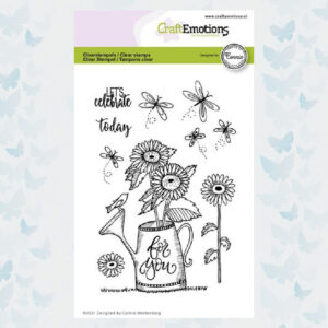 CraftEmotions Clear Stempels - Gieter - For you. Connie Westenberg 130501/2704