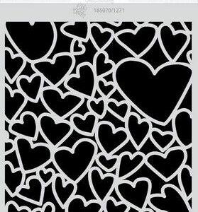 CE Mask/stencil Love Puns - Harten A5 Carla Creaties 185070/1271