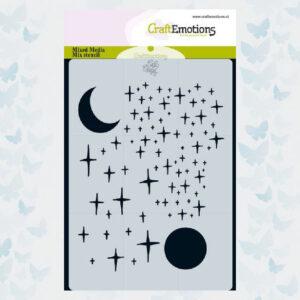 CraftEmotions Pochoir - Étoiles et Lune 185070/0116