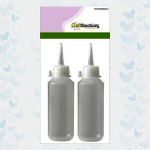 CraftEmotions - fles met tuitdop transparant 100ml 2 Stuks 349999/0102