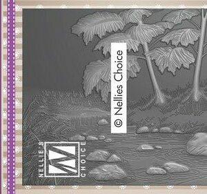 Nellies Choice 3D Emb. folder Waterval 3EF3D018