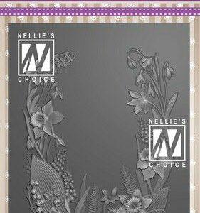Nellies Choice 3D Emb. folder Bloemen frame 3EF3D020