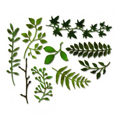 Sizzix Thinlits Die Set - Garden Greens 661206
