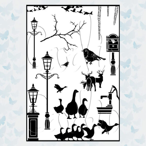 Card-io Clear Stamps Chris.Tide