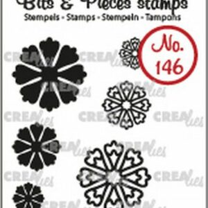 Crealies Clearstamp Bits & Pieces 6x Mini Bloemen 24 CLBP146