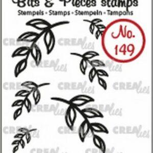 Crealies Clearstamp Bits & Pieces 6x Mini Blaadjes 5 CLBP149