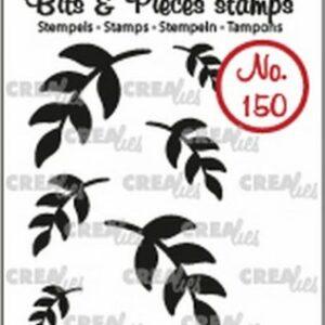 Crealies Clearstamp Bits & Pieces 6x Mini Blaadjes 5 solid CLBP150
