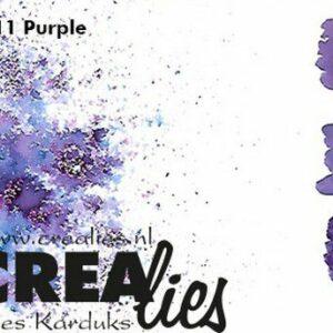 Crealies Pigment Colorzz Poeder Paars CLPC11