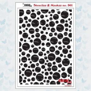 Crealies Stencilzz/Maskzz Cirkels CLSTM301
