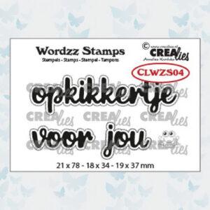 Crealies Clearstamp Wordzz Opkikkertje voor jou CLWZS04