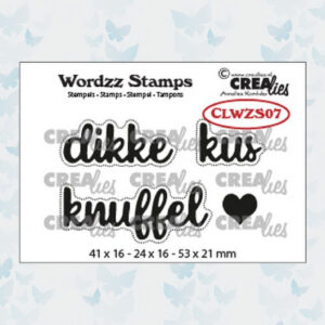Crealies Clearstamp Wordzz Dikke Kus CLWZS07