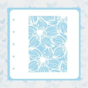Nellie's Choice Stencil voor Magnetic colour set Flower-2 COLST002