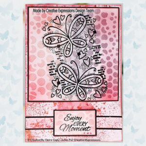 Woodware Clear Stempels Butterfly Confetti FRS853