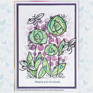 Woodware Clear Stempel Flower Blooms FRS854