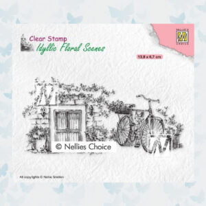 Nellies Choice clearstamp - Idyllic Floral - Fiets IFS033