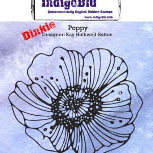 IndigoBlu Poppy A7 Rubber Stamps (IND0176)