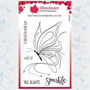 Woodware Clear Stempels Butterfly Sketch JGS762