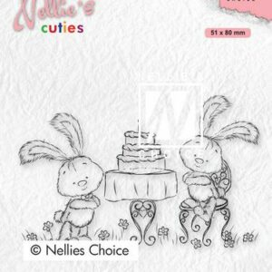 Nellies Choice Clearstempel - Cuties Javi's feest NCCS005