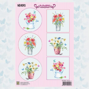 Nellies Choice Decoupage Knipvel Bloemen NEVI093