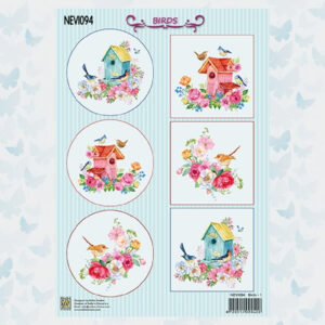 Nellies Choice Decoupage Knipvel Vogels NEVI094